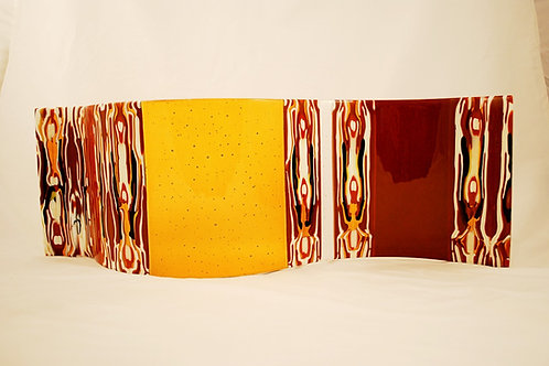 S Curve Brown Pattern Bars w Brown and Amber