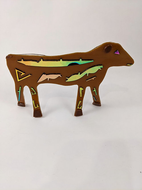 Tan with Gold Dichro Cow