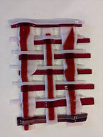 Red and Pink Wall Hanging