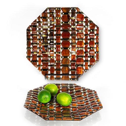 Platter--Brown Woven