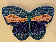 Butterfly Glass and Ceramic