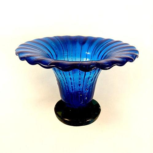 Blue Ruffle Vase