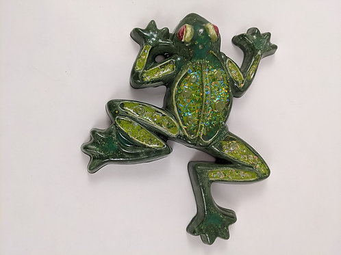 Glass and Ceramic Frog