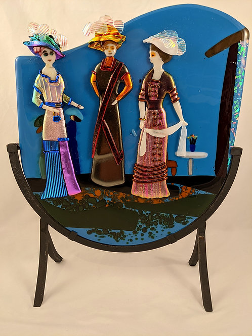 Victorian Ladies with Stand