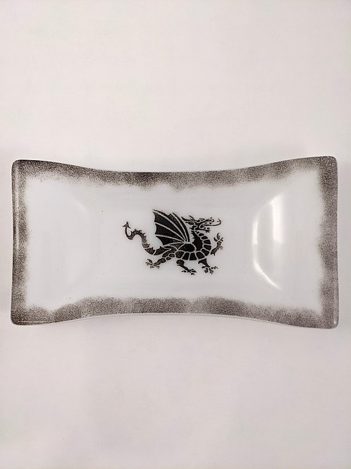White and Black Dragon Plate