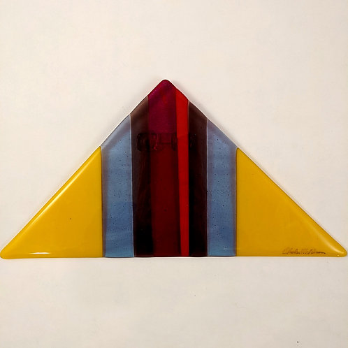 Triangle Wall Hanging Red Irid and Yellow