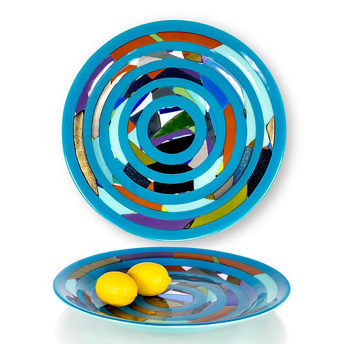 Blue Circle Platter