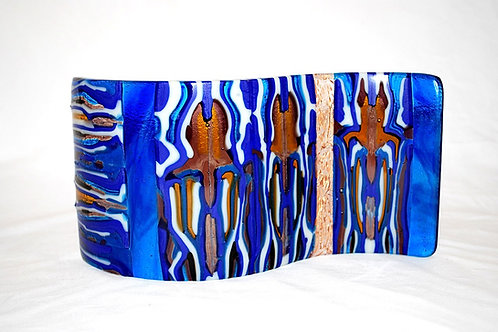 S Curve  Blue and Amber Pattern Bars& Royal Rose Strip