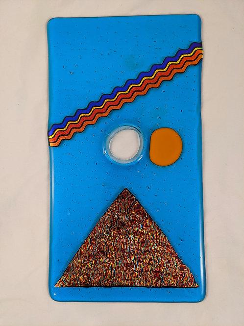 Turquoise Blue w/Dichro Pyramid & Yellow Sun