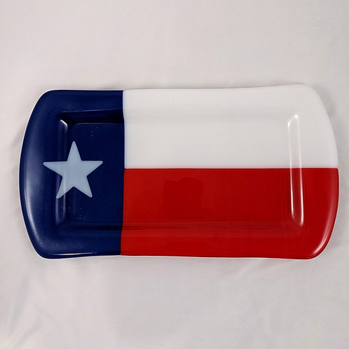 Texas Serving Tray Opalescent Glass