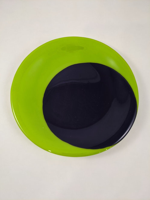 Plate Dark Blue and Spring Green