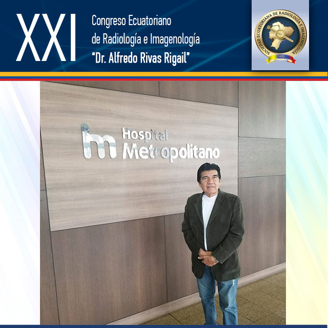 """Promocionando en Quito el XXI Congreso Ecuatoriano de Radiología e Imagenología """"Dr. Alfredo Ri"""