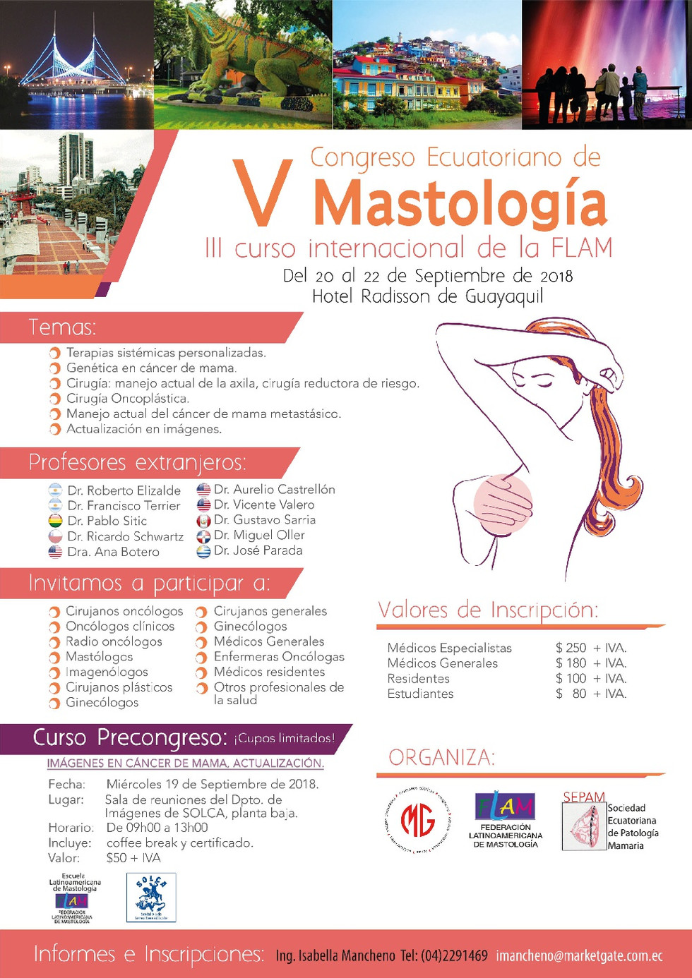 V Congreso Ecuatoriano de Mastología y III Curso Internacional de la Federación Latinoamericana de M