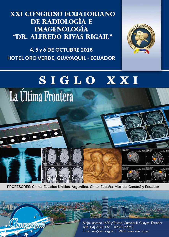 "XXI Congreso Ecuatoriano de Radiología e Imagenología ""Dr. Alfredo Rivas Rigail"" Octubre 2"