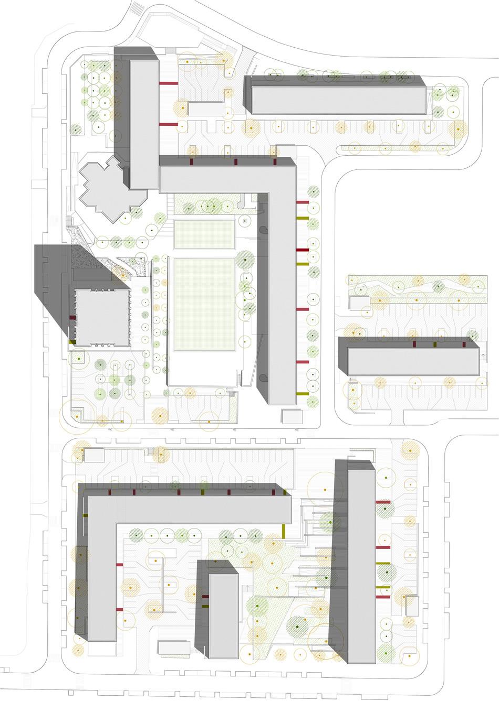 Plan de masse quartier