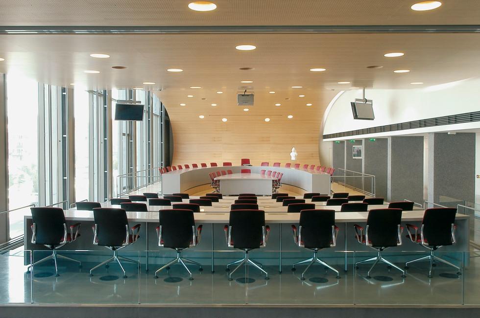 Vue de la salle du Conseil Municipal
