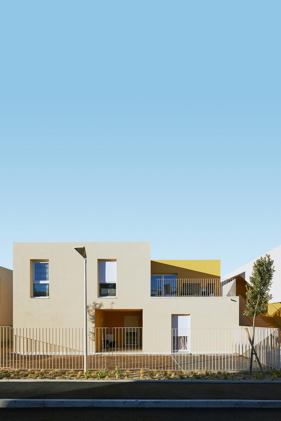 Vue des logements collectifs