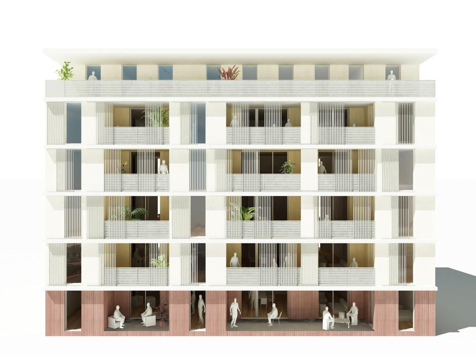 Maquette 3D facade