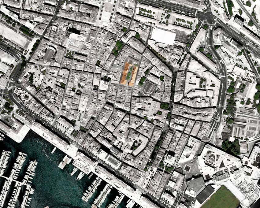 Vue aérienne centre ville