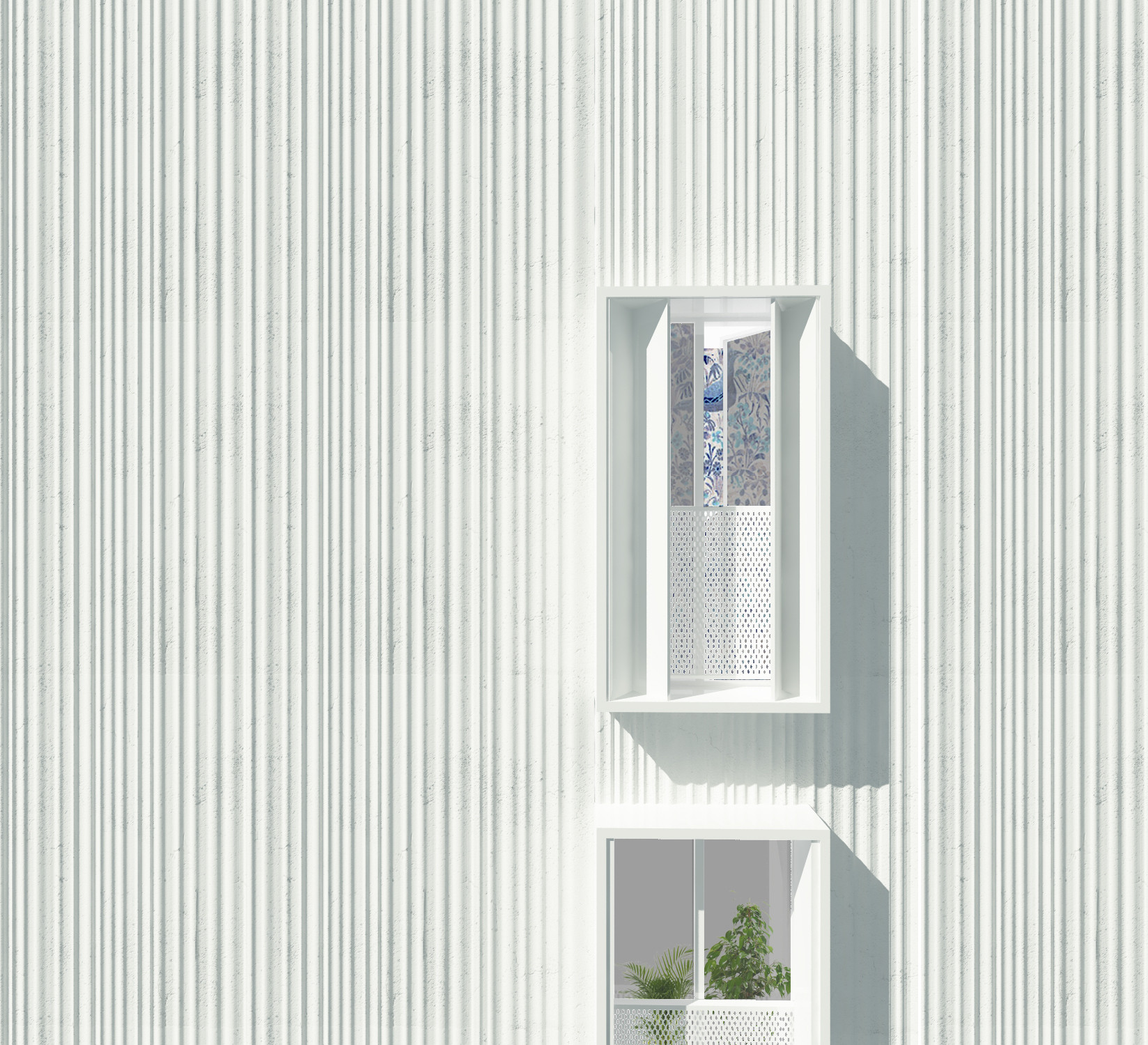 Détail traitement façade