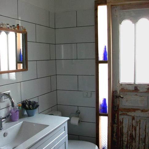 Bathroom With Old Oriental Door