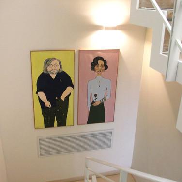 Artist and Jaqueline