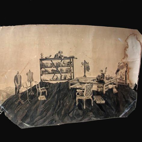 Yizhak Ben Jakob (Oppenheimer) - Ink on paper