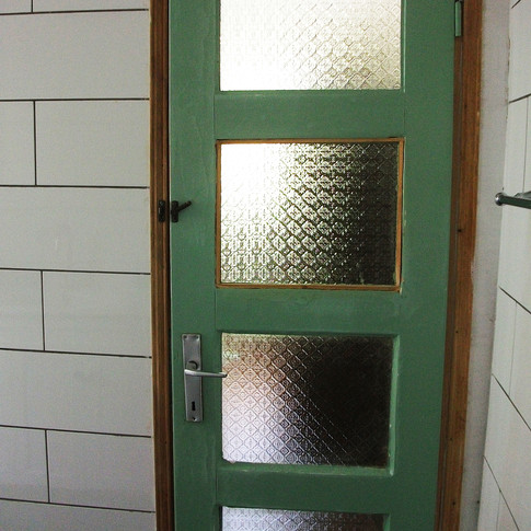 Door With Patterned Glass