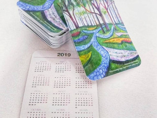Карманные календарики 2019