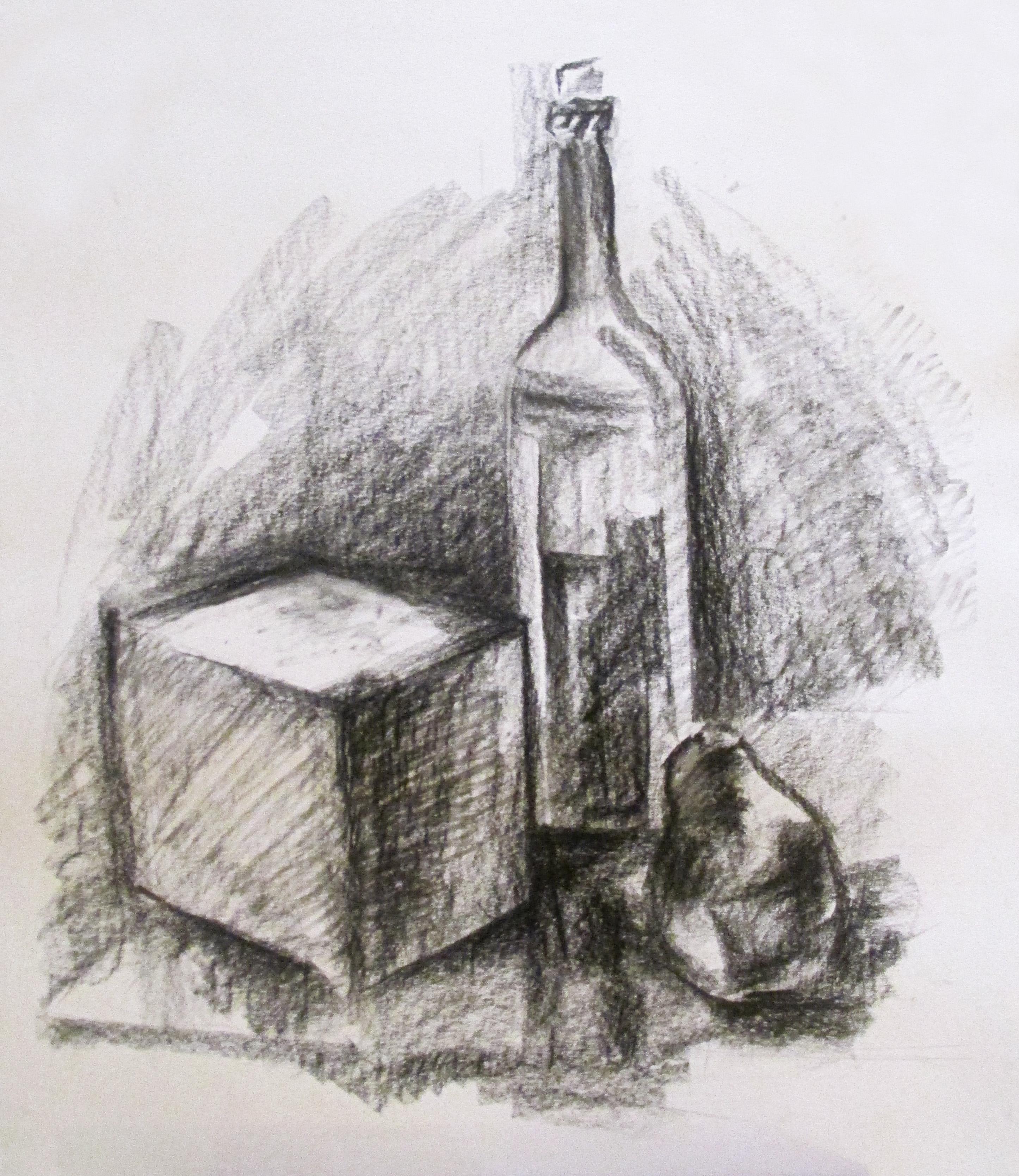 Натюрморт с кубом