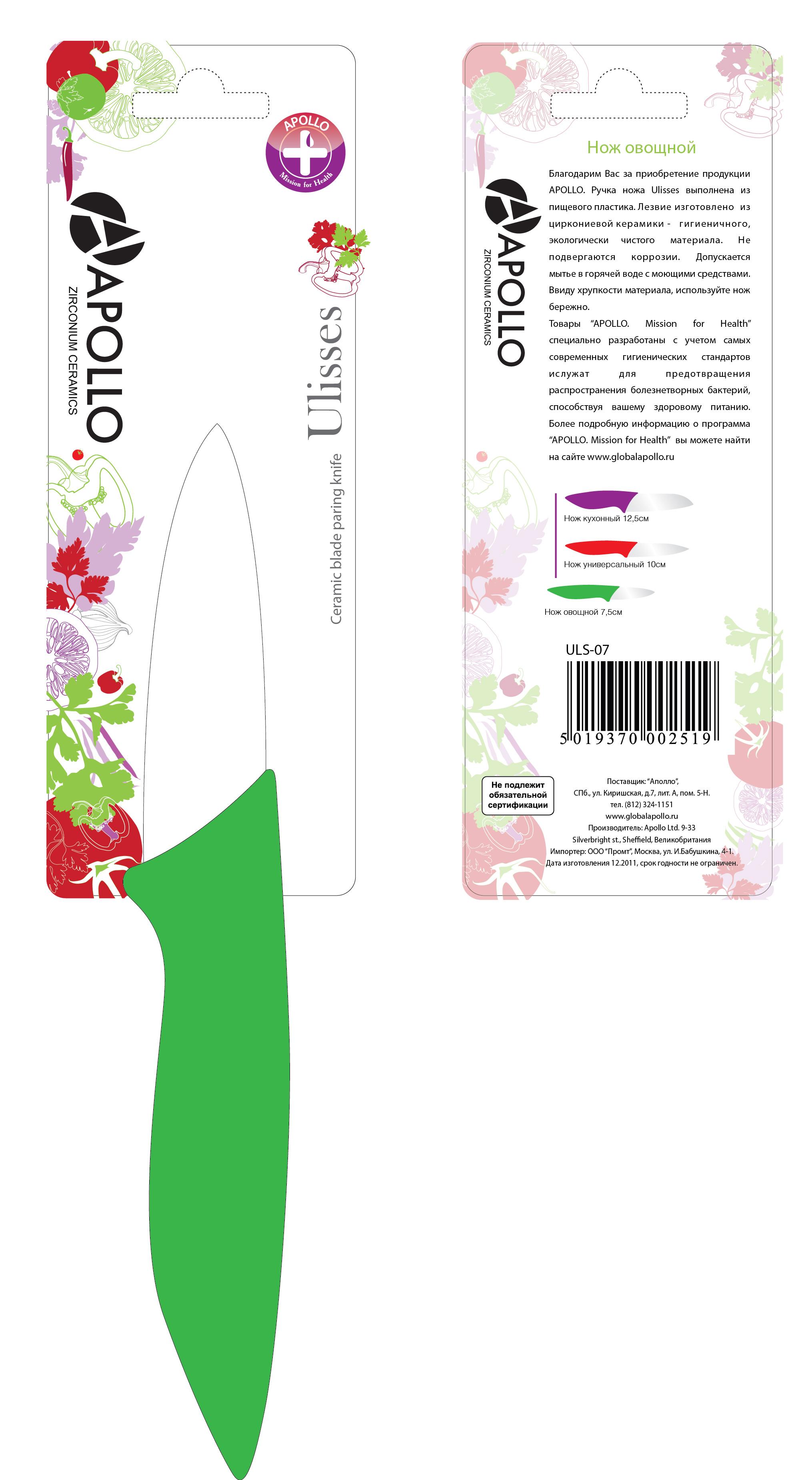 Упаковка-подложка под нож