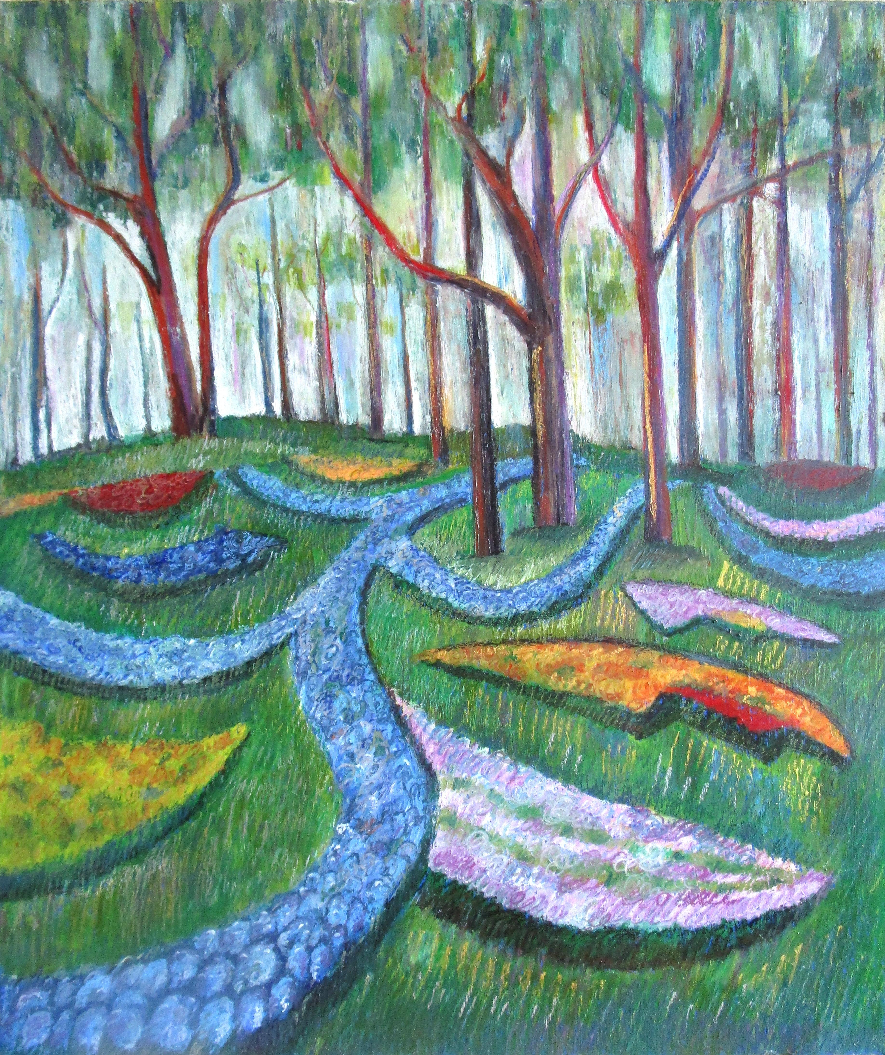 Кёкенхоф парк. Цветочные дорожки