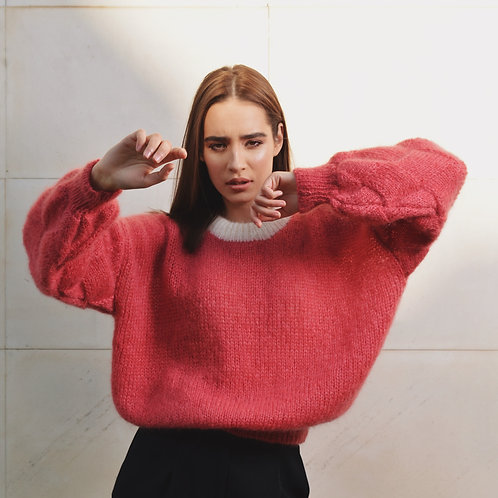 Strawberry Pink Mohair Sweater
