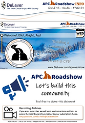 APC Roadshow Info Sheet