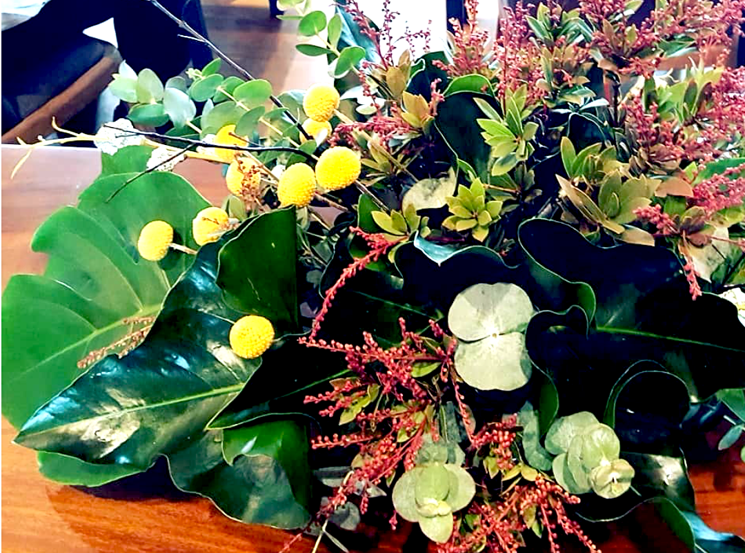 Floral arrangement at The Masons Table