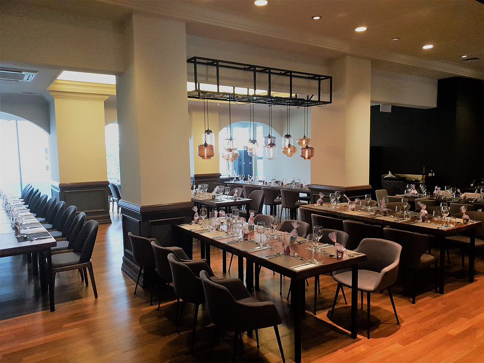 The Masons Table, Freemasons Hall Singapore, European Restaurant and Event Space in Central Singapore, near City Hall, Raffles Place, Fort Canning, Funan Mall, Padang