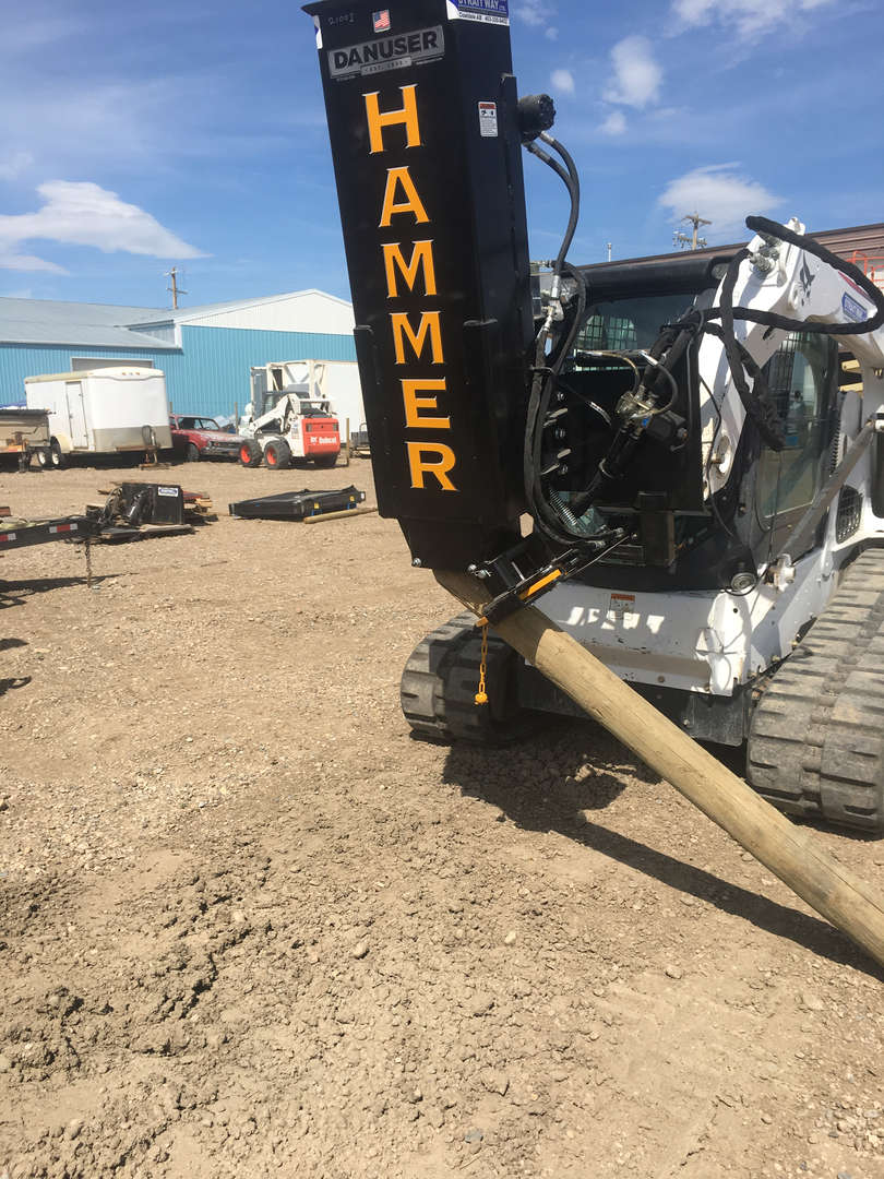 Skid Steer Post Pounder