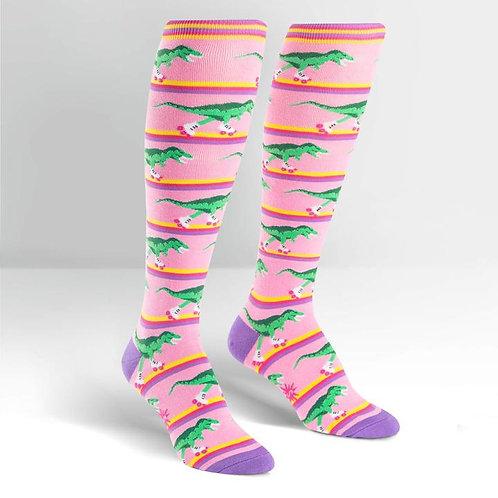 Sock it to Me Rawr-ler Rink Knee High Socks