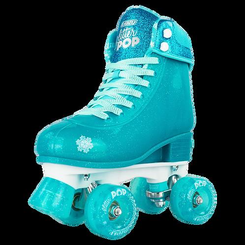 Crazy Glitter Pop Teal Skates