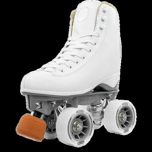 Crazy Celebrity Art White Roller Skates