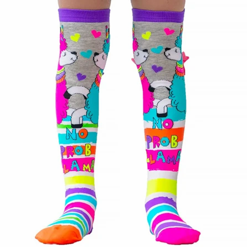 Mad Mia No Probllama Socks