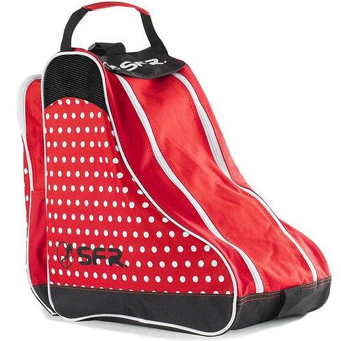 SFR Skate Bag Red and White Polka