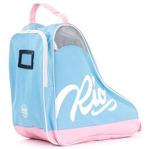 Rio Roller Script Skate Bag Blue Pink