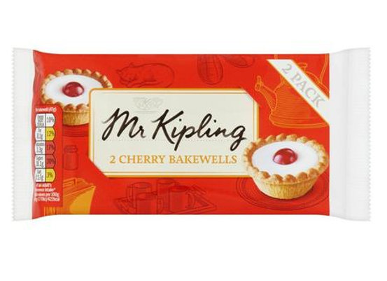 Mr Kipling Cherry Bakewell (Twin Pack)