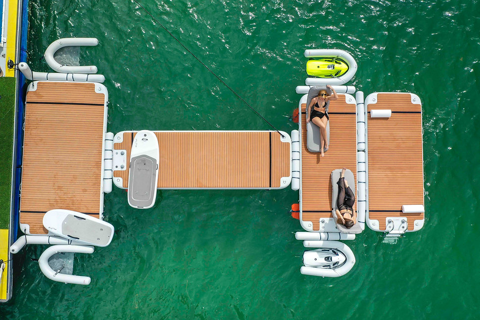 nautibuoy Inflatable Platform - Jetski dock and watersport center