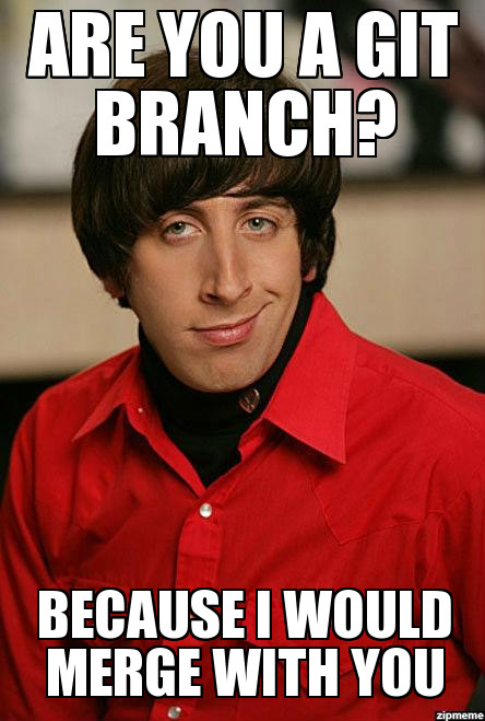 Are you a Git branch? Because I would merge with you.