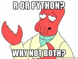 Meme: R or Python? why not both?