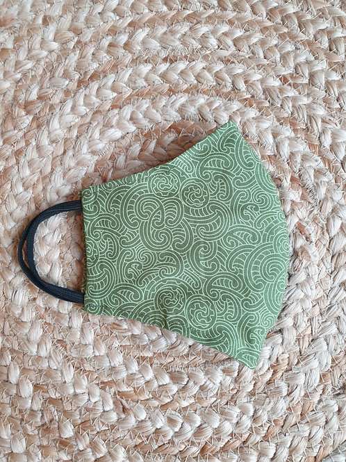 Face Masks - Ponga Green