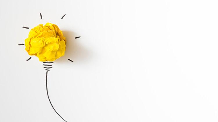 illuminated-crumpled-yellow-paper-light-