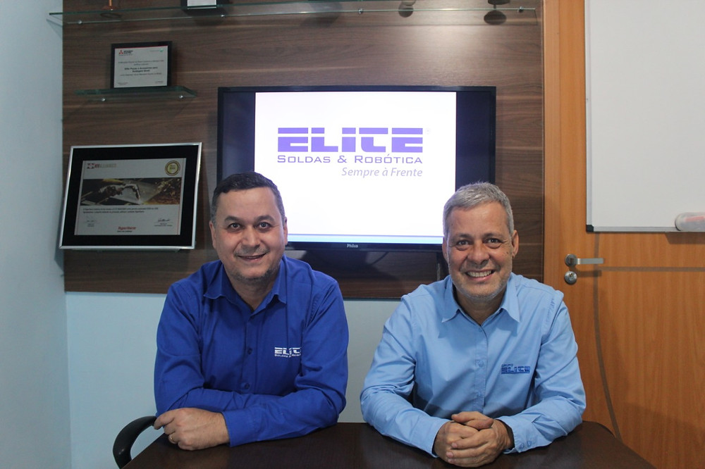 Os diretores da empresa Willian Oliveira e Luiz Carlos Rocha